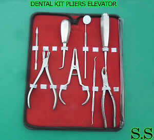 Dental Kit Pliers Elevator Mirror Handle Extraction Fcp