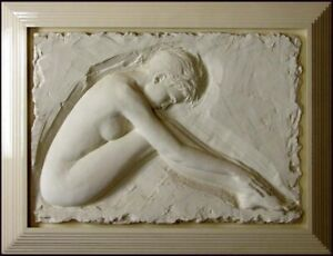 Bill Mack Serenity Bonded Sand HAND SIGNED FINE ART SCULPTURE FEMALE FORM ART