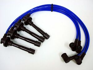 10 2mm Racing Spark Plug Ignition Cables Wires Set For 92 95 Honda Civic Blue
