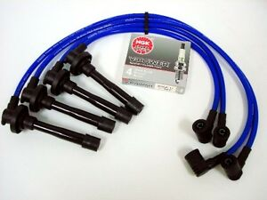 For 95 98 Nissan 200sx Sentra 10 2mm Racing Spark Wires Ngk V Power Plugs Blue