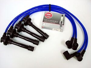 Vms Integra Gsr Vtec 10 2mm Spark Plug Wires Ngk V power Plugs Combo Kit Blue