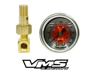 Honda Civic Fuel Pressure Liquid Filled Gauge Kit Red