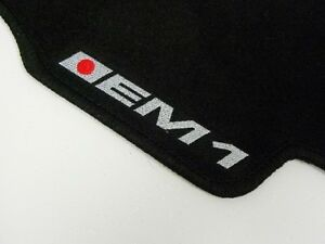Vms 99 00 Honda Civic Si Em1 2dr Black Floor Mats Carpets Interior Custom Fit