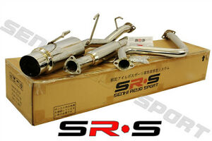 Srs Full T 304 Stainless Steel Catback Exhaust For 92 96 Honda Prelude H22 Si