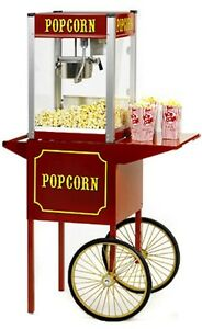 Popcorn Machine Popper Paragon Tp 4 W cart Theater Pop