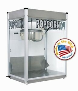 Commercial 16 Oz Popcorn Machine Theater Popper Maker Paragon Pro Series Ps 16