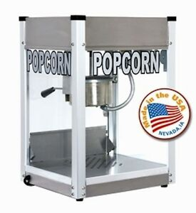 Commercial 4 Oz Popcorn Machine Theater Popper Maker Cart Paragon Pro Ps 4