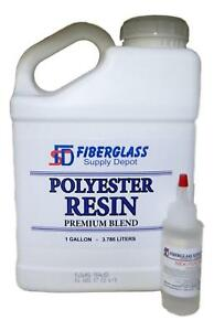 Polyester Resin W hardener For Laminating Fiberglass Mat Biaxle Cloth gallon
