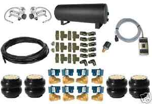 Universal Air Bag Air Ride Suspension Kit Fast 200 Psi