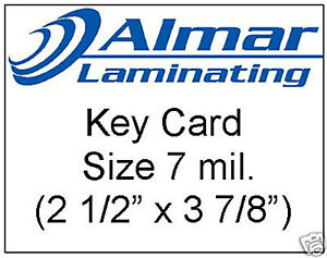 100 Key Card Size Laminating Pouches 7 Mil