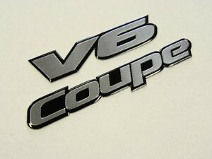 Ford Mustang V6 2dr Coupe Rear Trunk Emblems Badge