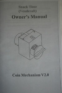 Vm 150 Snack Time Vending Machine Owners Manual Set