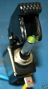 Carbon Fiber Green Light Led Aircraft Toggle Switch