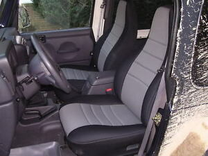 1997 2002 Jeep Wrangler Neoprene Front Rear Seat Custom Covers color Options