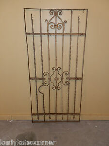 Wonderful 100 Year Old French Wrought Iron Gate One Of A Kind