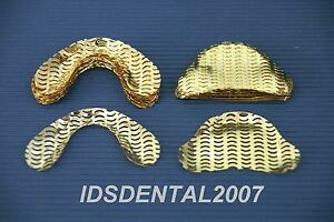 100 Pcs Dental Gold Plated Denture Mesh Strengthener New buy 5 Get 1 Free