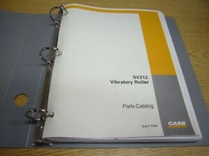 Case Sv212 Vibratory Roller Parts Catalog Manual