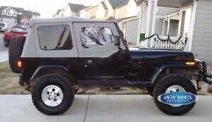 Jeep Wrangler Replacement Soft Top With Upper Skins Gray
