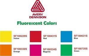 15 X 10yd Avery Fluorescent Sign Vinyl Film Super Bright