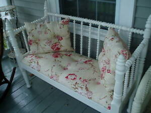 Amazing Large Victorian Spool Bed Upholstered Bench