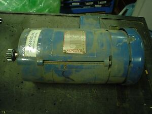 Baldor 1hp Dc 180v 56c C Face 1750 Rpm Motor 27a02w05 Cat No Cd5318