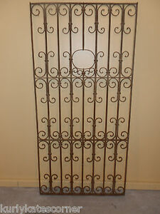 Antique 100 Year Old French Wrought Iron Gate