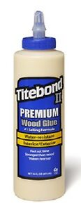 12 Titebond Ii 5004 16oz Premium Weatherproof Wood Glue