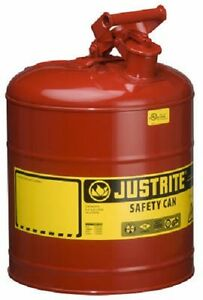 Justrite 7150100 5 Gallon Type I 1 Red Steel Gas Fuel Can