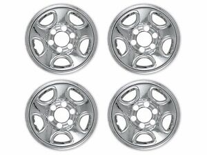 Silverado Gmc Sierra 1500 6 lug 16 Chrome Wheel Covers For 5 spoke Steel Wheels
