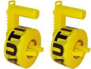 2 Stringliner 42020 1000 Yellow Caution Tape Dispenser W Roll Of Caution Tape