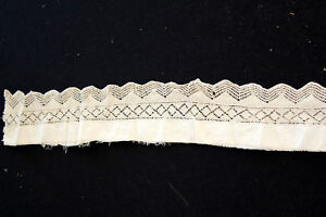 Vintage Antique French Victorian Hand Made Lace Trim