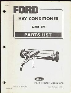 Ford Hay Conditioner Series 510 Part Manual