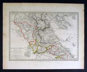 1829 Sduk Map Ancient Greece Athens Thessaly Attica