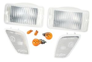 1997 2006 Jeep Wrangler Unlimited Clear Corner Turn Signal Lens Kit