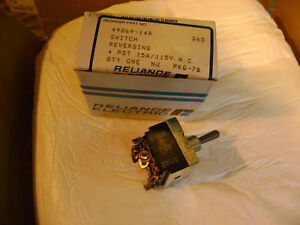 Reliance Electric Reversing Toggle Switch 49869 14r