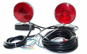 12v Magnetic Trailer Towing Light Kit Tow Truck Auto Automotive Safety Tools