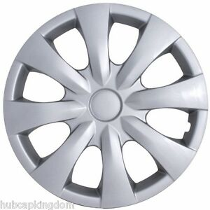 New 2009 2013 Toyota Corolla 15 8 spoke Silver Hubcap Wheelcover