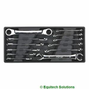 Sealey Tbt13 Tool Chest Tray Flare Nut Ratchet Ring Spanner Wrench Set 12 Piece