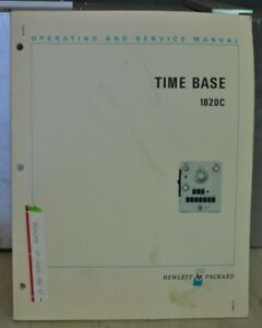 Hp 1820c Time Base Operating Service Manual