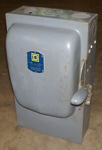 O Square D 100 Amp Fusible Safety Switch A87413