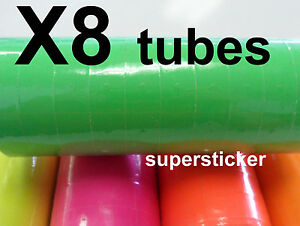 Green Price Tags For Mx 6600 2 Lines Gun 8 Tubes X 11 Rolls X 500