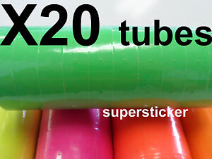 Green Price Tags For Mx 6600 2 Lines Gun 20 Tubes X 14 Rolls X 500