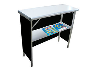 Trade Show Promotional Demo Counter Pop Up Unbranded Black Skirt Included