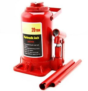 20 Ton Low Profile Bottle Jack Shop Automotive Garage Lift Hoist Tools Jacks
