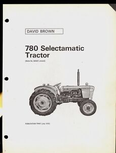 1970 David Brown Parts Catalog 780 Selectamatic Tractor