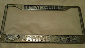Temecula Ca Chevrolet Cadillac Dealership License Plate Frame Metal Tag Embossed