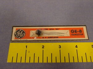 Rare Packaged Vintage Ge 8 1962 Black Transistor Unopened New
