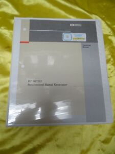 Hp 8673h Synthesized Signal Generator Operating Manual