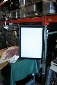 Lighted Menu Sign new White Board W Black Trim