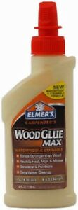 12 Elmer s E7290 4 Oz Stainable Waterproof Carpenters Indoor Outdoor Wood Glue